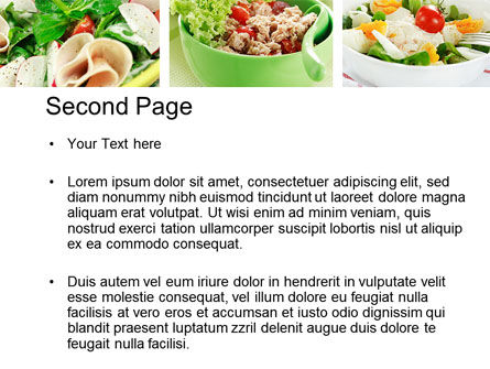 Salad Recipes PowerPoint Template Slide 2