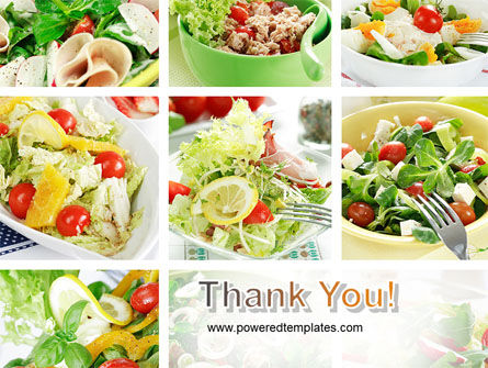 Salad Recipes PowerPoint Template Slide 20