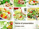 Food & Beverage: Salad Recipes PowerPoint Template #10648