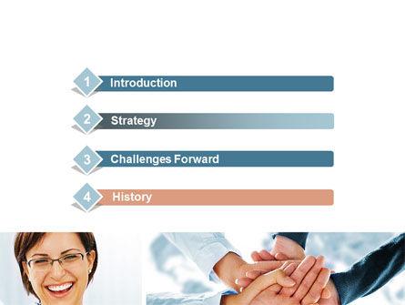Cohesive Team PowerPoint Template, Slide 3, 10649, People — PoweredTemplate.com