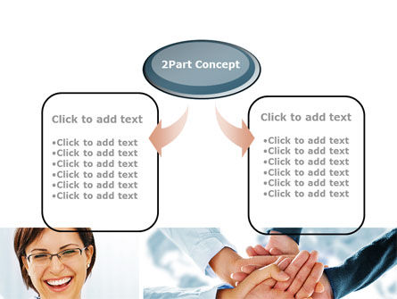Cohesive Team PowerPoint Template, Slide 4, 10649, People — PoweredTemplate.com