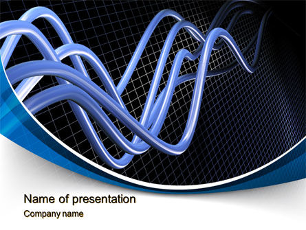 3D Sine Graph PowerPoint Template