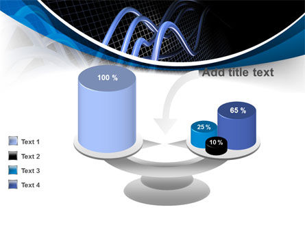 3D Sine Graph PowerPoint Template Slide 10
