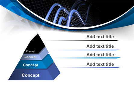 3D Sine Graph PowerPoint Template Slide 12