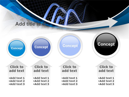 3D Sine Graph PowerPoint Template Slide 13