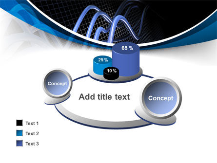 3D Sine Graph PowerPoint Template Slide 16
