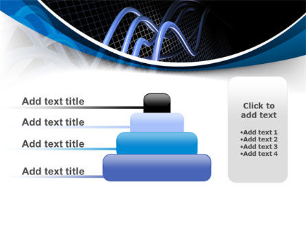 3D Sine Graph PowerPoint Template Slide 8