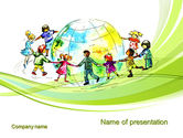 Education & Training: Dance Around the World PowerPoint Template #10654