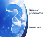 Consulting: Question in Sky PowerPoint Template #10657