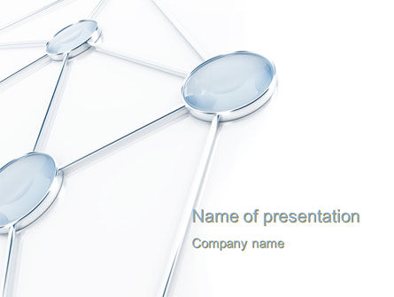 Graph Node PowerPoint Template, 10659, Technology and Science — PoweredTemplate.com