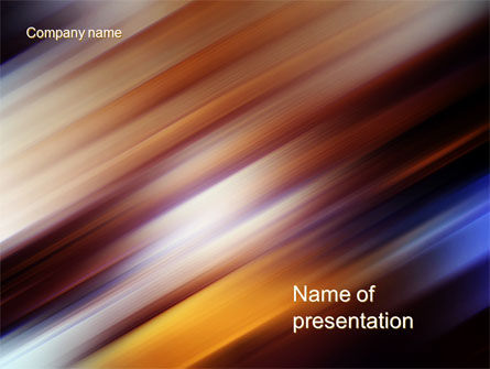 Abstract/Textures: Motion Blur PowerPoint Template #10660