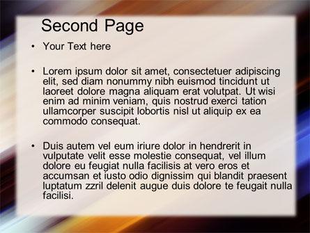 Motion Blur PowerPoint Template, Slide 2, 10660, Abstract/Textures — PoweredTemplate.com