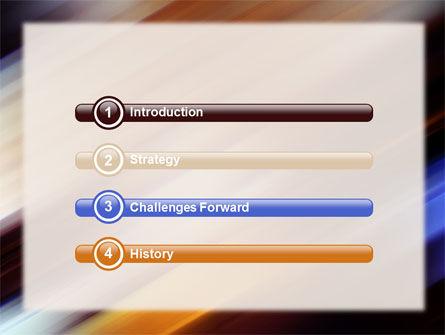 Motion Blur PowerPoint Template, Slide 3, 10660, Abstract/Textures — PoweredTemplate.com