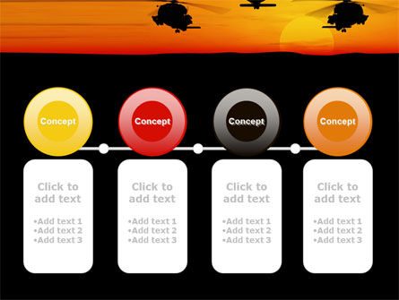 Helicopters at Sunset PowerPoint Template Slide 5