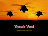 Helicopters at Sunset PowerPoint Template#20