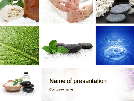 Spa Equipment PowerPoint Template, 10663, Careers/Industry — PoweredTemplate.com