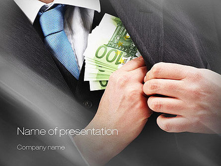 Legal: Bribe Money PowerPoint Template #10666