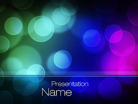 Abstract/Textures: Colored Light Spots PowerPoint Template #10667