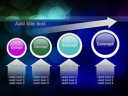 Colored Light Spots PowerPoint Template Slide 13