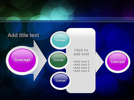 Colored Light Spots PowerPoint Template Slide 17