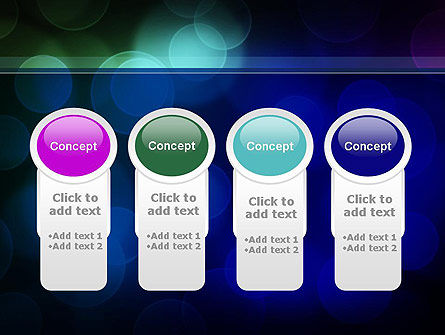 Colored Light Spots PowerPoint Template Slide 5