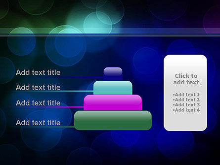 Colored Light Spots PowerPoint Template Slide 8