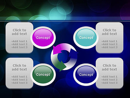 Colored Light Spots PowerPoint Template Slide 9