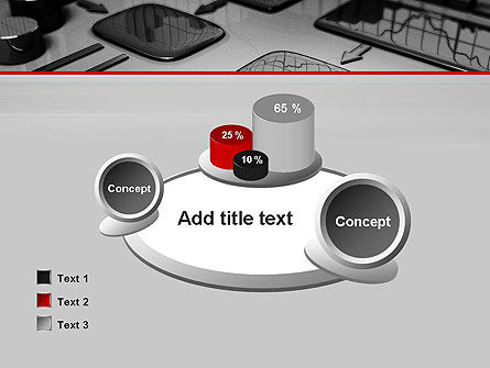Liquid Flowchart PowerPoint Template Slide 16