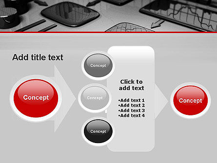 Liquid Flowchart PowerPoint Template Slide 17