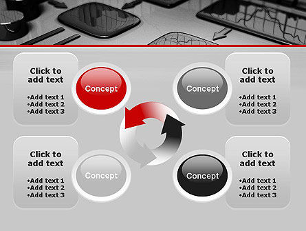 Liquid Flowchart PowerPoint Template Slide 9