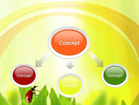 Ladybug on Grass PowerPoint Template, Slide 4, 10670, Nature & Environment — PoweredTemplate.com