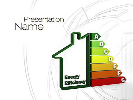 Domestic Energy Efficiency PowerPoint Template, 10671, Careers/Industry — PoweredTemplate.com