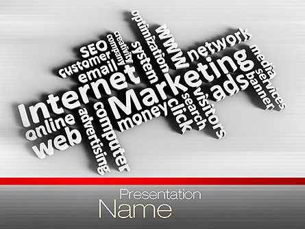 Internet Marketing PowerPoint Template, 10674, Careers/Industry — PoweredTemplate.com