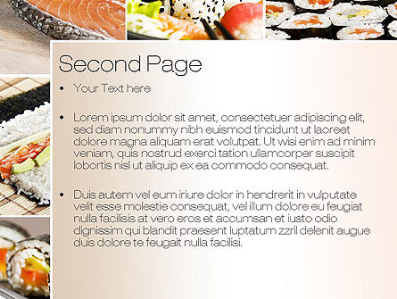 Sushi Collage PowerPoint Template Slide 2