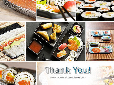 Sushi Collage PowerPoint Template Slide 20