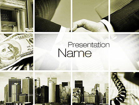 Business Collage PowerPoint Template, 10676, Business — PoweredTemplate.com