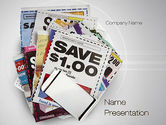 Financial/Accounting: Coupons PowerPoint Template #10677