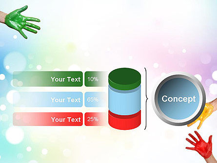 Painted Hands PowerPoint Template Slide 11