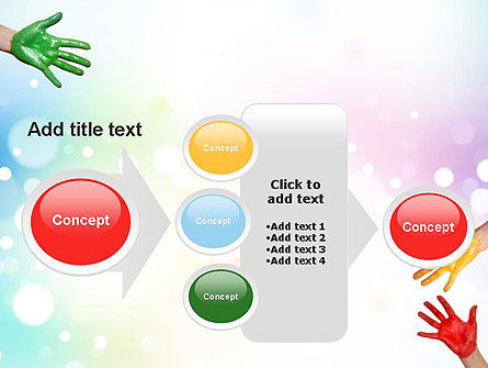 Painted Hands PowerPoint Template Slide 17