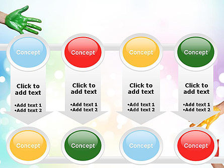 Painted Hands PowerPoint Template Slide 18