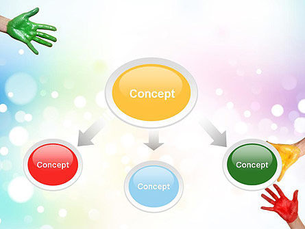 Painted Hands PowerPoint Template, Slide 4, 10680, Education & Training — PoweredTemplate.com