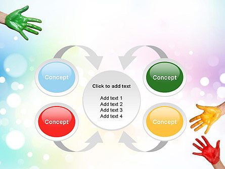 Painted Hands PowerPoint Template Slide 6
