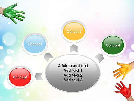 Painted Hands PowerPoint Template Slide 7