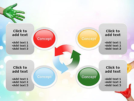 Painted Hands PowerPoint Template Slide 9