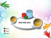 Painted Hands PowerPoint Template#16