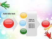 Painted Hands PowerPoint Template#17