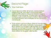 Painted Hands PowerPoint Template#2