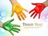 Painted Hands PowerPoint Template#20