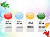 Painted Hands PowerPoint Template#5