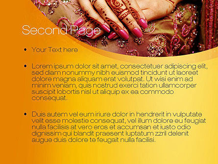 Mehndi Designs PowerPoint Template Slide 2